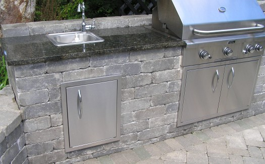 Hardscape, Outdoor Kitchen, outdoor sink, Unilock, Clarence, Amherst, Williamsville, Lancaster